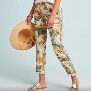 Anthropologie Chino Tropical Floral Crop 27
